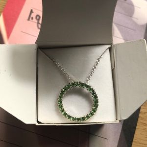 Jewelry - ❗️4 for $20❗️ Green circle necklace